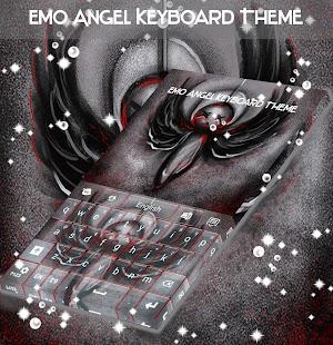 Emo Angel Keyboard Téma - náhled