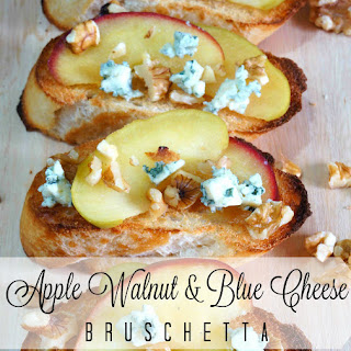 Apple, Walnut & Blue Cheese Bruschetta