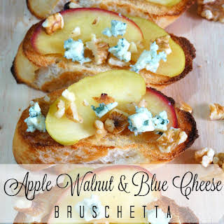 Apple, Walnut & Blue Cheese Bruschetta.