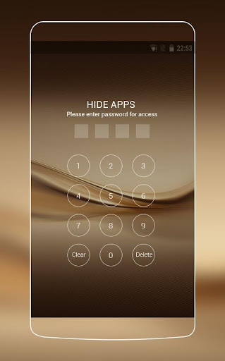 Theme for Huawei P8 & P10 Gold Wallpaper Icon Pack  screenshots 3