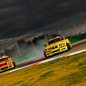 Drifting under storm by Jozef Micic - Sports & Fitness Motorsports ( drifting, speed, cars, storm, fast, race )