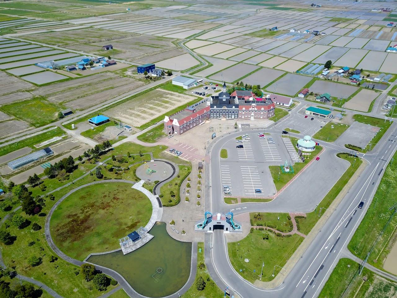 北竜温泉空撮風景