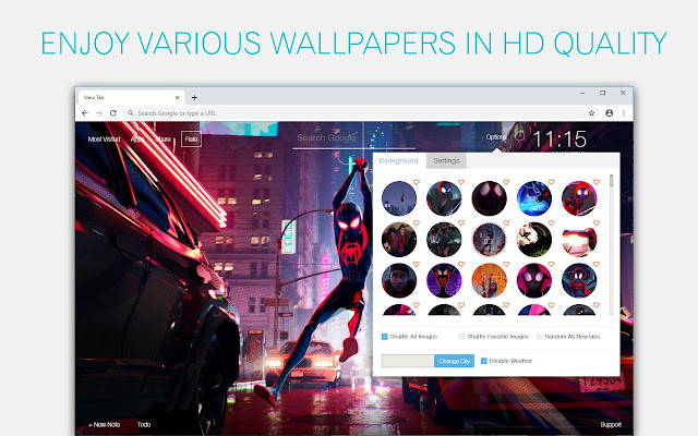 Miles Morales Wallpaper HD Custom New Tab