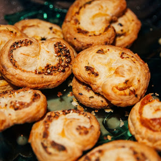 Savory Palmiers with Cream Cheese and Everything Spice.