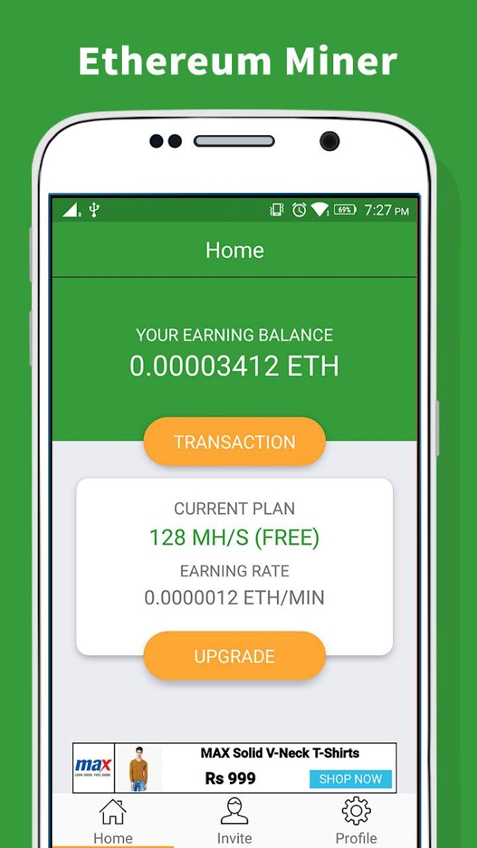 Ethereum Miner - Earn Free ETH Android 6