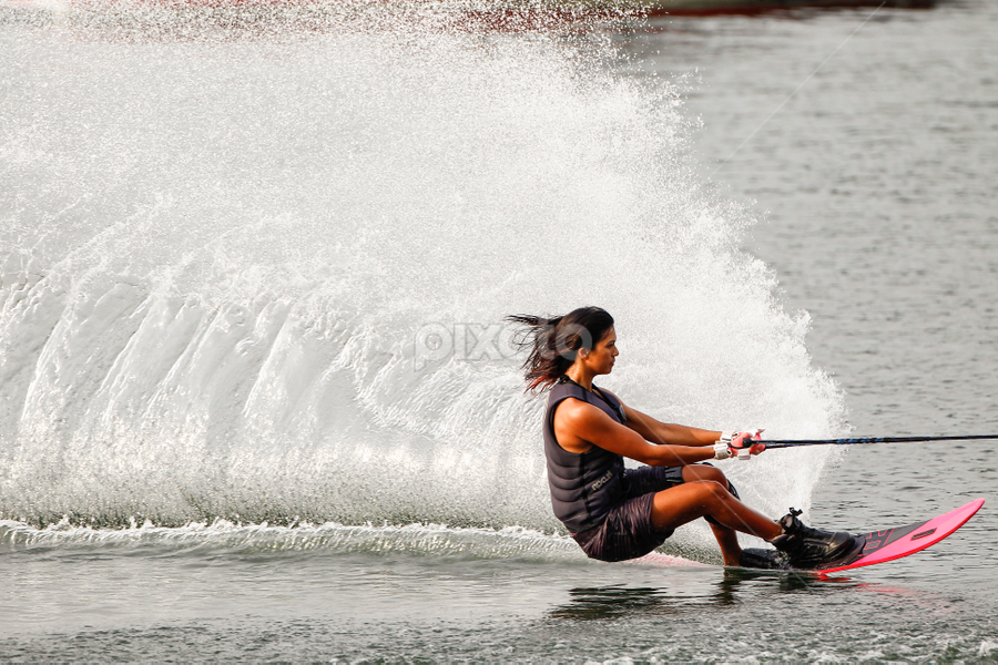 Women Waterski by Eric Wang - Sports & Fitness Watersports ( water ski, pwcwatersports, women )