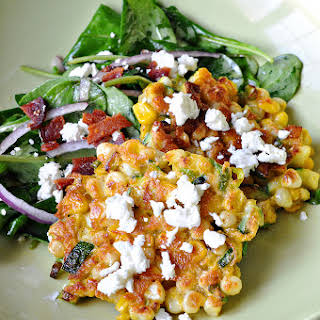Corn Cakes with Goat Cheese.