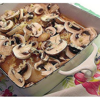 Marinated Button Mushrooms.