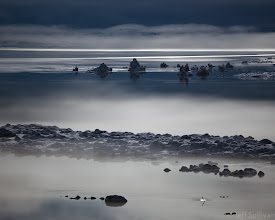 Photo: Moonlit Mist on Mono  Fog flows onto the icy surface of Mono Lake during a moonlit Winter night earlier this week.