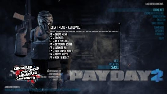 Best Cheat Payday 2 - náhled