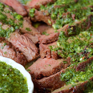 Grilled Tri-Tip with Chimichurri Sauce.