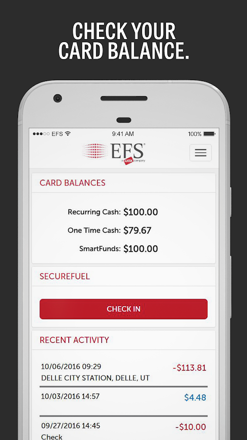 EFS CardControl- screenshot