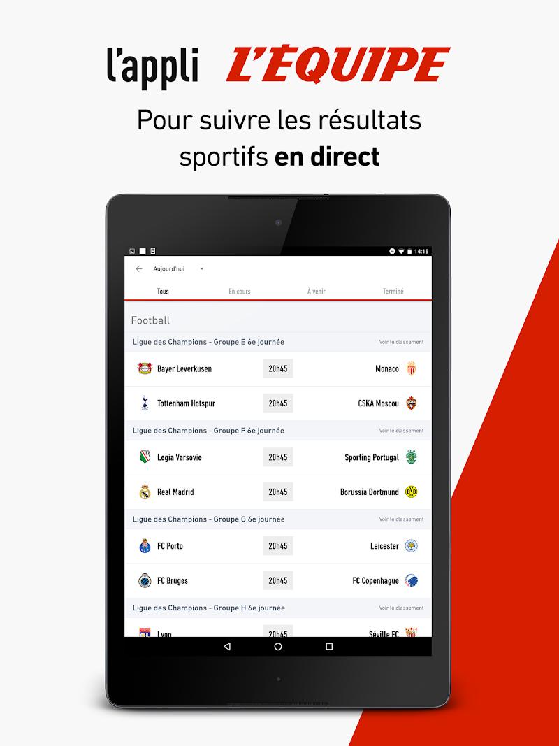 L'Équipe - Sport en direct : foot, tennis, rugby.. Screenshot 9
