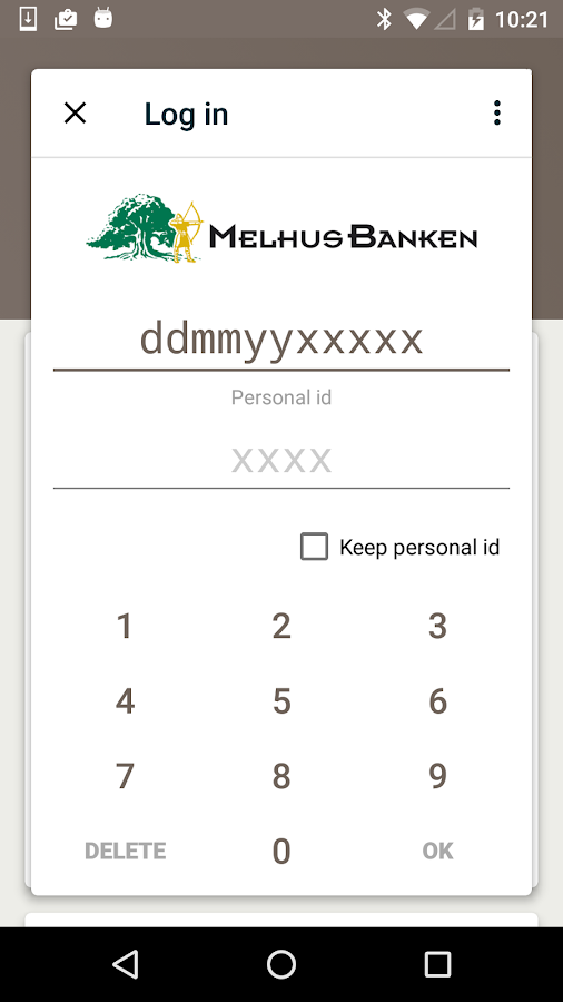 Melhusbanken- screenshot