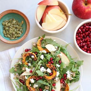 Roasted Delicata Squash, Farro, and Arugula Salad