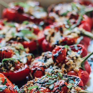 Quinoa Caprese Stuffed Peppers