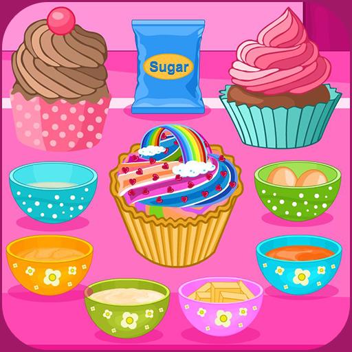 Bake multi colored cupcakes Icon