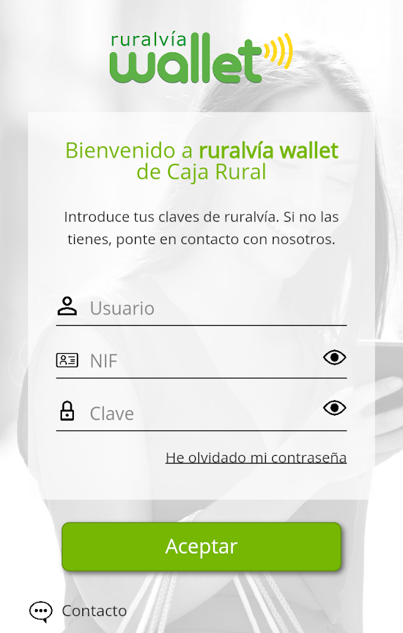 rvía wallet: captura de pantalla