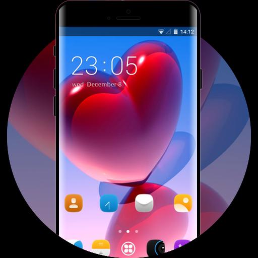 Love theme heart background wallpaper