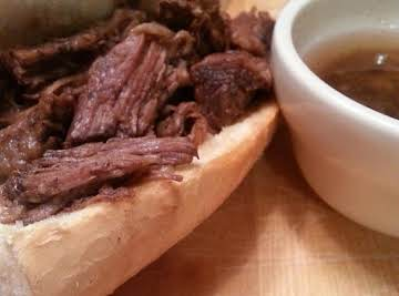 Crock Pot Balsamic French Dip Sandwiches