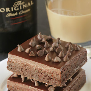 Baileys Irish Cream Brownies (gluten-free, whole grain options)