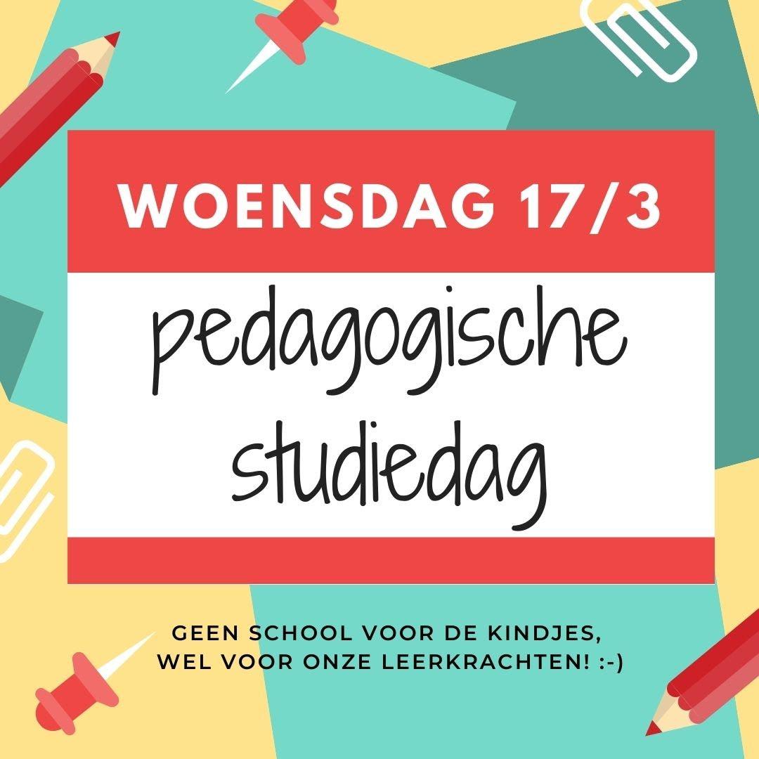 Pedagogische studiedag 17/3