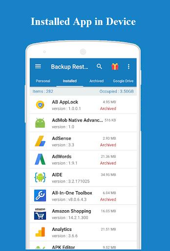 Backup and Restore - App, Contacts, Sms , Calllogs 2.0.50.98 screenshots 4