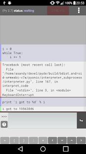 Pyonic Python 2 interpreter - náhled