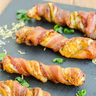 Cheesy Bacon Twists with Puff Pastry.