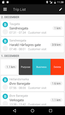 ABAX Triplog - Mileage claim - screenshot