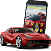Fast Luxury Red Sport Car Racing Theme