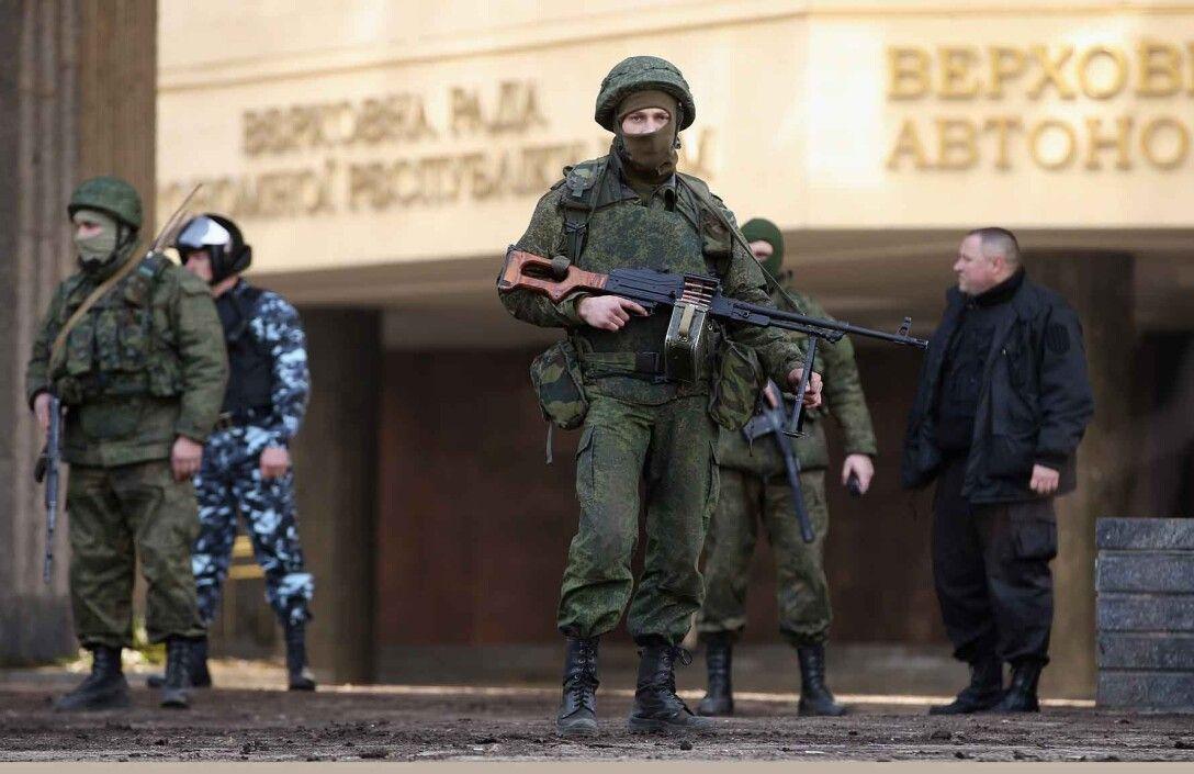 Зеленые человечки, Крым, аннексия Крыма, РФ, захват админзданий