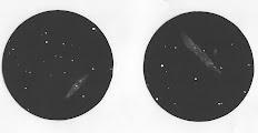 Photo: M108 (à gauche) et NGC4631 (à droite) vues le 5 avril 2007 dans le T406 à 175X.