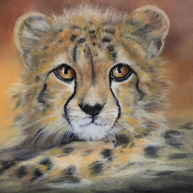 Makena by Linda Woodward - Painting All Painting ( cheetah, cat, nature, wildcat, wildlife, animal )