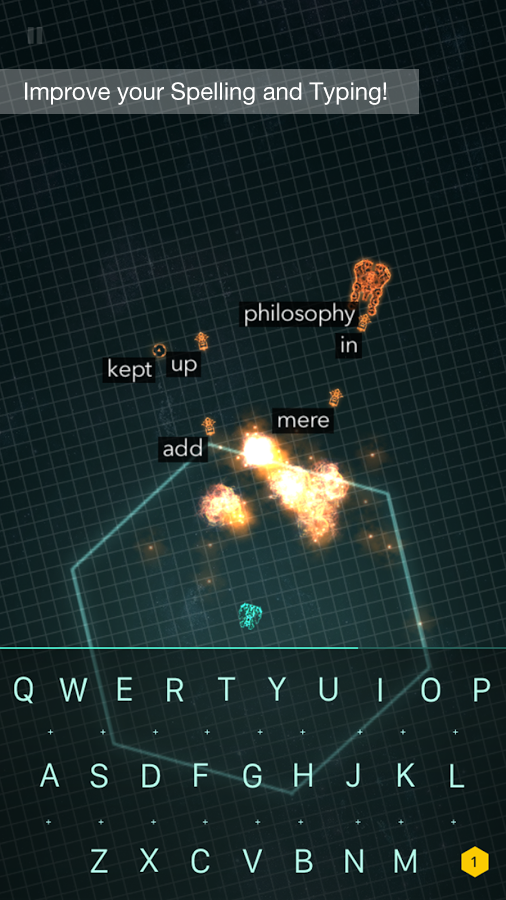 ZType Space Typing & Spelling- screenshot