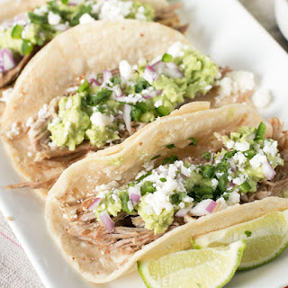 Tequila Lime Pulled Pork Tacos.