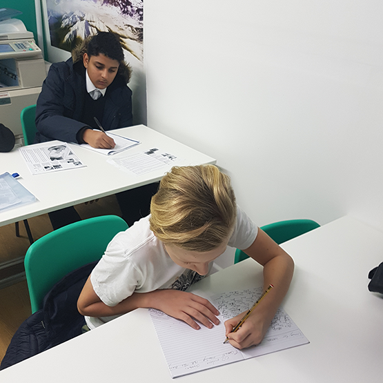 students in ks3 class at Top Marks Tuition Centre
