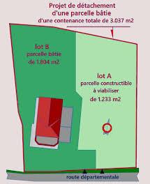 Terrain 1233 m2