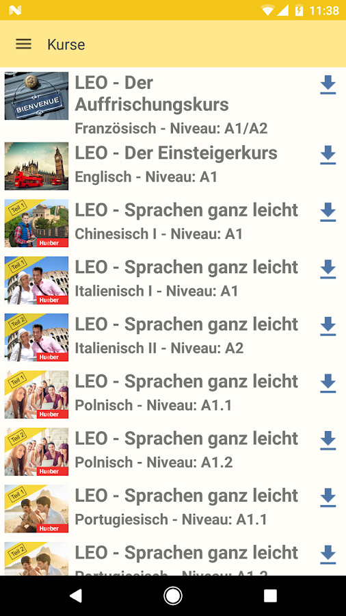 LEO Wörterbuch – Screenshot
