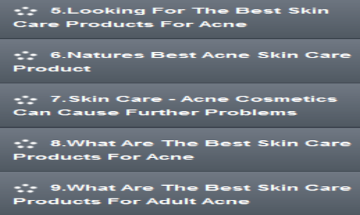 Acne Care Products- screenshot thumbnail
