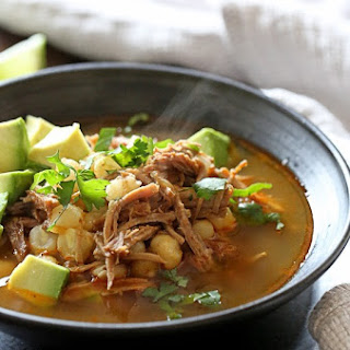 Pressure Cooker Pozole (Pork and Hominy Stew).