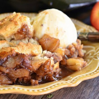 Maple Pecan Apple Cobbler Skillet
