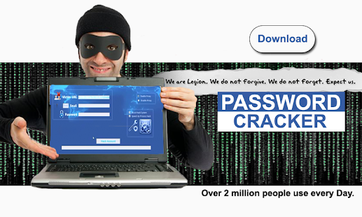 Password cracker simulator screenshot