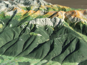 Photo: Giewont, Tatra Mts. Relief Map, Relief Map