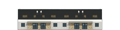 Mazurek II z garażem 1-st. szeregówka A-SZ - Elewacja tylna