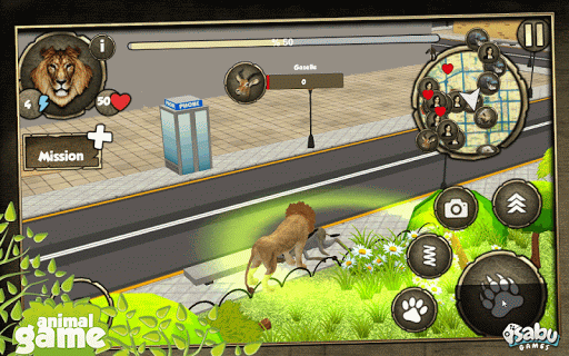 도시 사자 시뮬레이터 3D