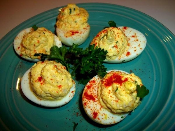~ Creamy Chicken Deviled Eggs ~ Recipe