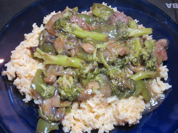 Beef Stir Fry W/broccoli, Green Pepper & Mushrooms Recipe