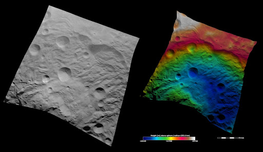 Topography of Vesta South Polar Region I
