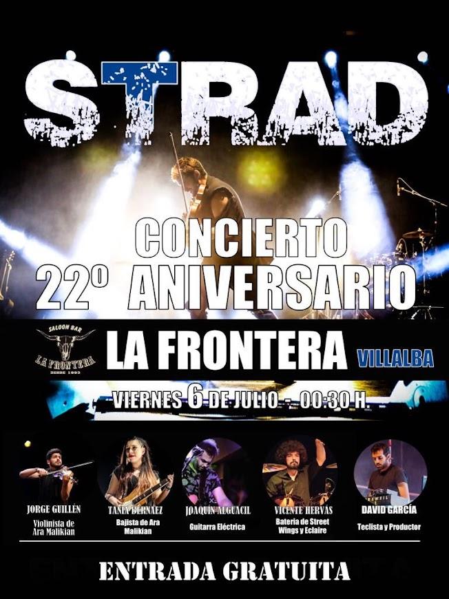 cartel XXII Aniversario La Frontera de Villalba